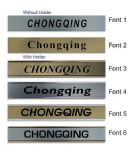Chongqing Clock Name Plate |World Time Zone City Wall clocks Sign custom Plaque